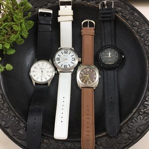4 vintage watch bundle - large watch faces